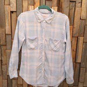 Woman's button down shirt top blouse Rails small